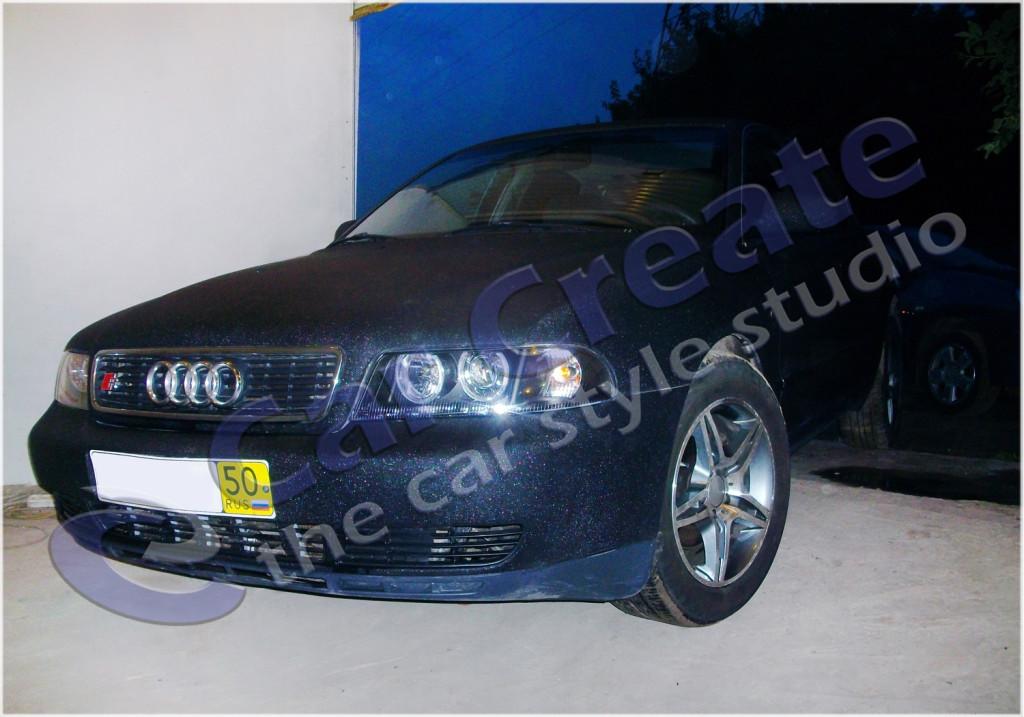 """Audi A4 - оклейка кузова пленкой """"алмазная крошка"""""""