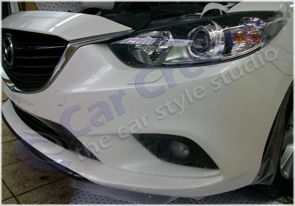 Оклейка бампера Mazda 6 антигравийной полиуритановой пленкой 3М