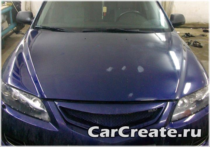 Mazda 6 – оклейка капота пленкой под карбон