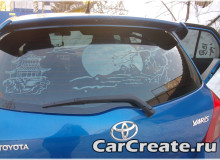 Арт-тонировка Toyota Yaris