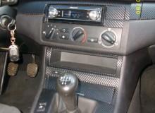 BMW 3 оклейка деталей салона виниловой пленкой под карбон 3d