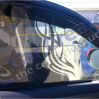 Тонировка передних стекол с рисунком