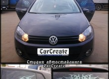 Volkswagen Golf 6 – рисунки на стекле