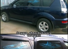Mitsubishi Outlander – тонировка стекол и арт-тонировка автомобиля