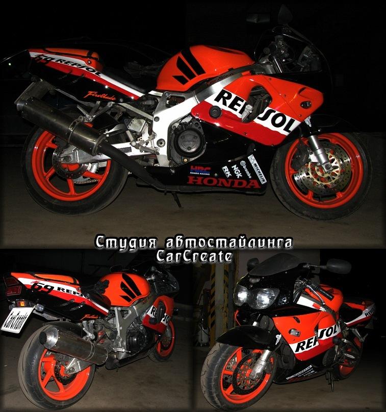 Honda CBR 900rr разработка дизайна и изготовление наклеек